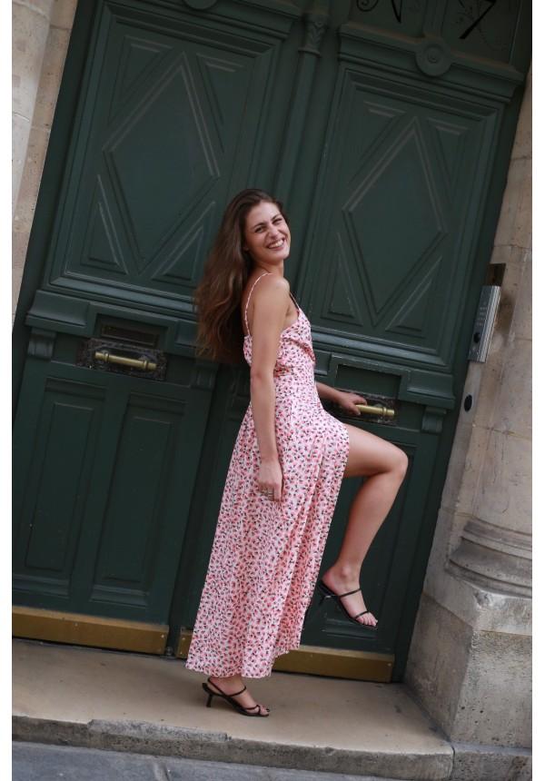 Robe LA CIOTAT pink and white