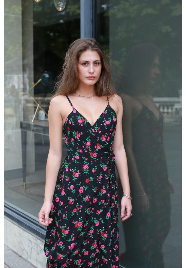 Dress LA CIOTAT pink and black