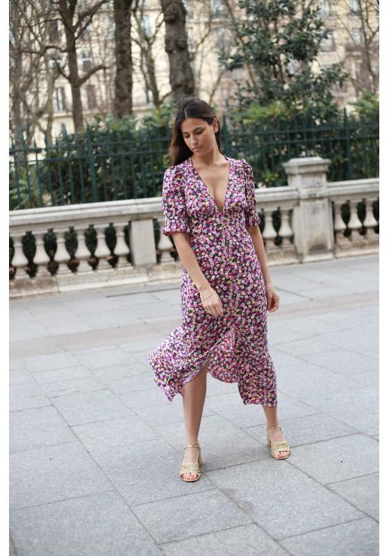 Dress QUEEN marguerite pink
