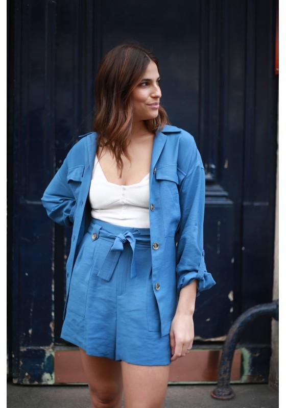 Short CAMILLE bleu